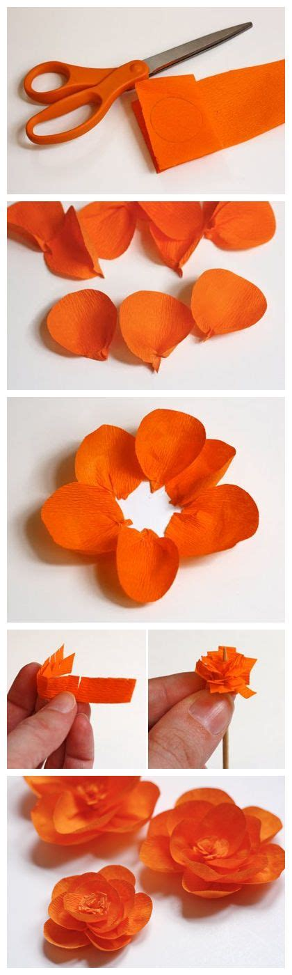How Do You Make Crepe Paper Flowers - 535 best diy paper flowers images on crepe