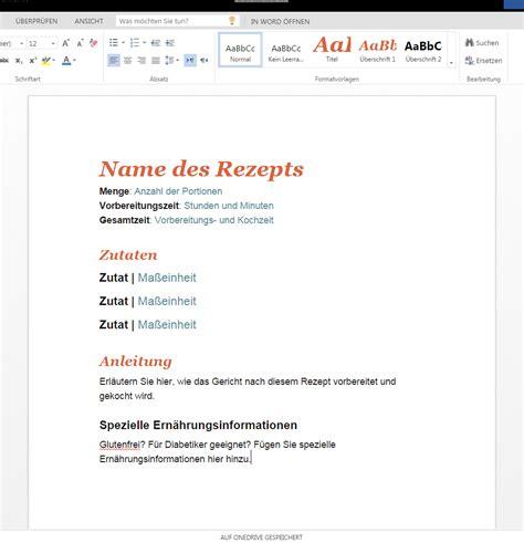 Word Vorlage Rezept Rezept Als Vorlage Zum Runterladen Wordvorlage De