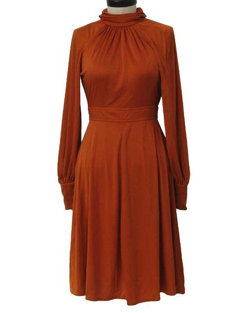 rust colored dresses gough 70 s vintage disco dress 70s gough