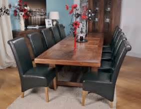 oversized dining room tables extra large dining table grand marseille walnut home