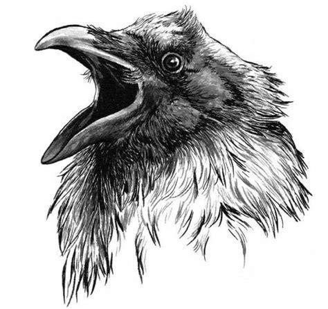эскизы тату ворона