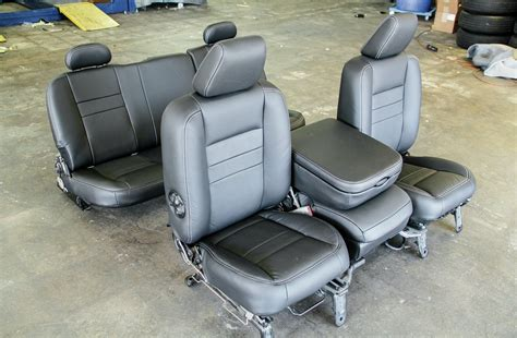 Replacement Seat Upholstery Kits 2006 Dodge Ram Leather Interior Swap