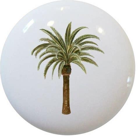 palm tree ceramic cabinet drawer knob tropical cabinet