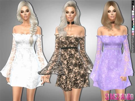 lace shirt the sims 4 the sims resource 229 lace dress with transparent