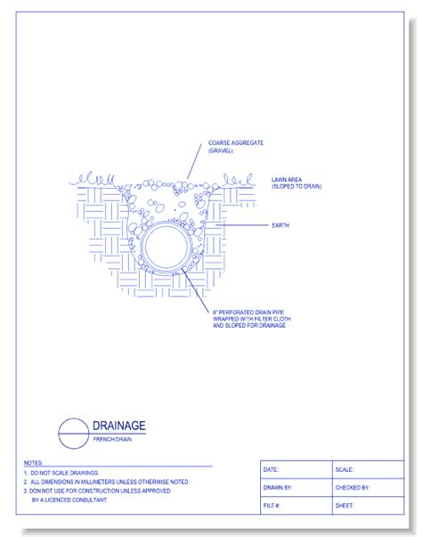 drainage section drawing drainage caddetails com caddetails
