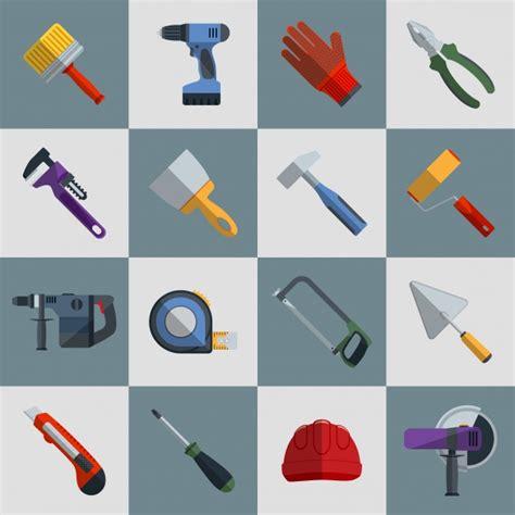 design free tools flat tools design vector free download