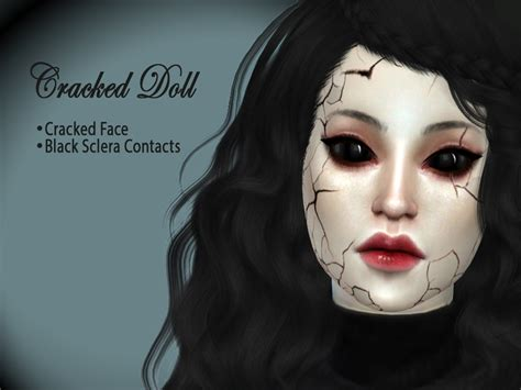 sims 4 cc sclera contact hutzu s cracked doll set