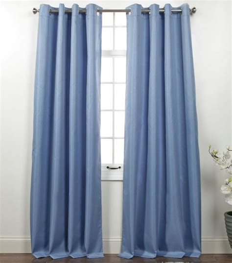 curtain top belle maison memento provence blue blackout grommet top