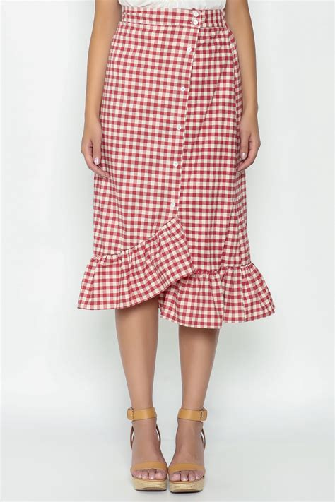 n a gingham ruffle skirt from mississippi by gypster veil shoptiques