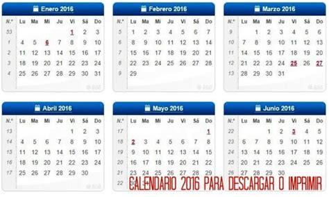 Calendario Para Descargar 2017 Calendario 2016 Para Imprimir Calendar
