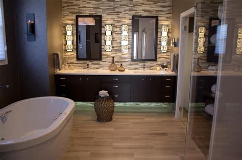 tile accent wall bathroom photos hgtv