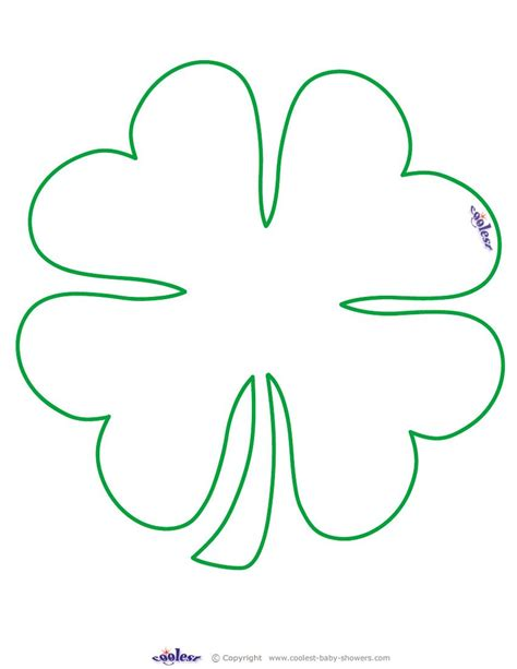 clover templates flowers large printable clover coolest free printables