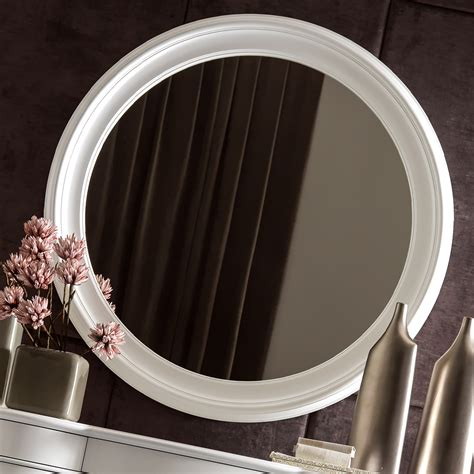 large white bathroom mirror large italian round white mirror juliettes interiors