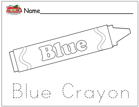 Free Coloring Pages Of Blue Crayon
