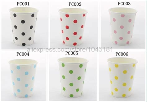 Paper Cup 9oz Isi 50pcs Papercup Murah 9 Oz Gelas Kertas Gelas K 9 oz white polka dot paper cups wedding birthday decoration colored paper cups