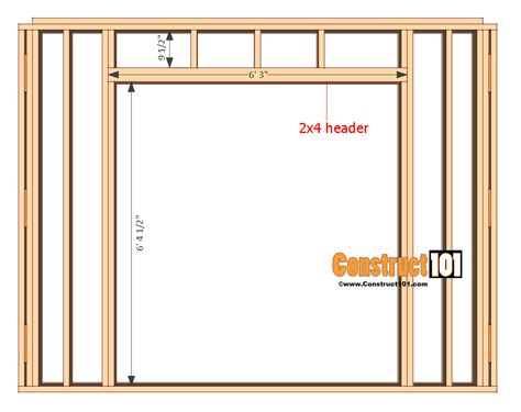 Framing Shed Door by Shed Plans 10x12 Gambrel Shed Construct101