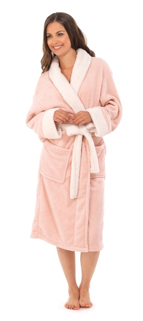 full length bathrobe womens full length bath robe dressing gown housecoat fur