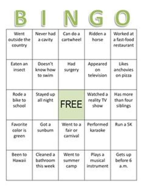 Icebreaker High School Bingo Card Template by 1000 Images About Yearbook Staff On Yearbooks