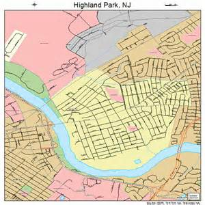 highland park new jersey map 3431470