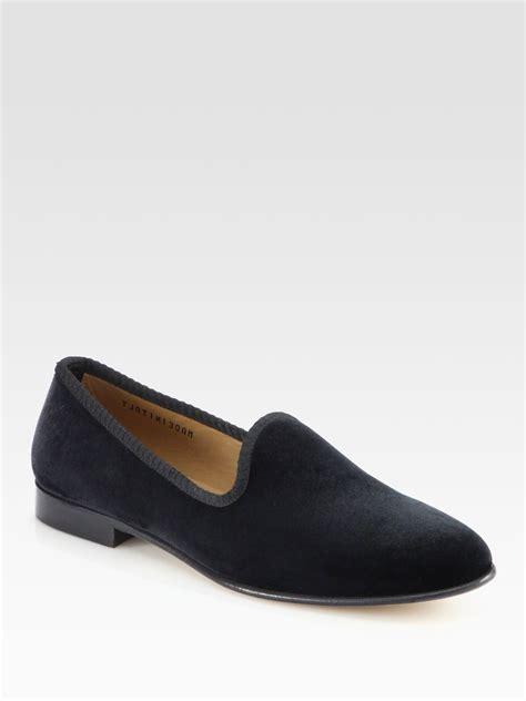 toro black velvet slippers toro velvet slipper shoe in black for lyst