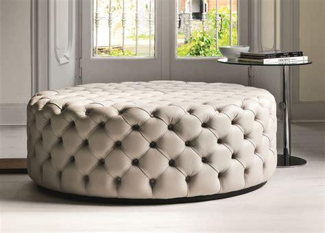 Porada Alcide Round Pouf Porada Furniture At Go Modern