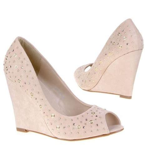 Fresco Schoen Sandal Platform Pink peep toe pumps 10 cm sleehak studs strass beige roze