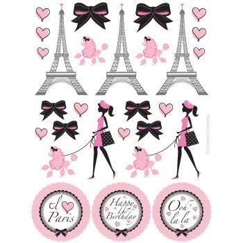 3d Sticker Paris by 4 Planches De Stickers Paris Chic Pour L Anniversaire De