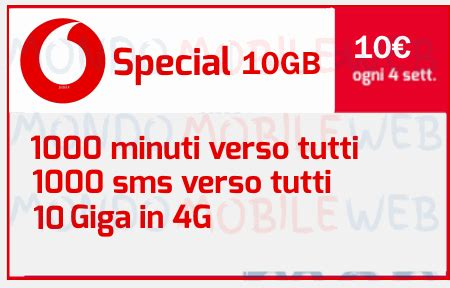 attivare mobile vodafone come attivare vodafone special 10gb con 1000 minuti 1000
