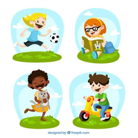 imagenes de niños jugando con sus padres ni 241 os jugando illustrados descargar vectores gratis
