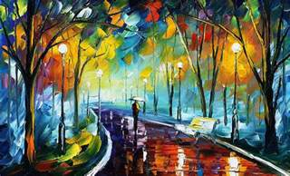 park 3 palette knife painting on canvas by