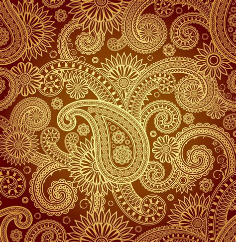 pattern of gold paisley designs gold paisley pattern vector paisley