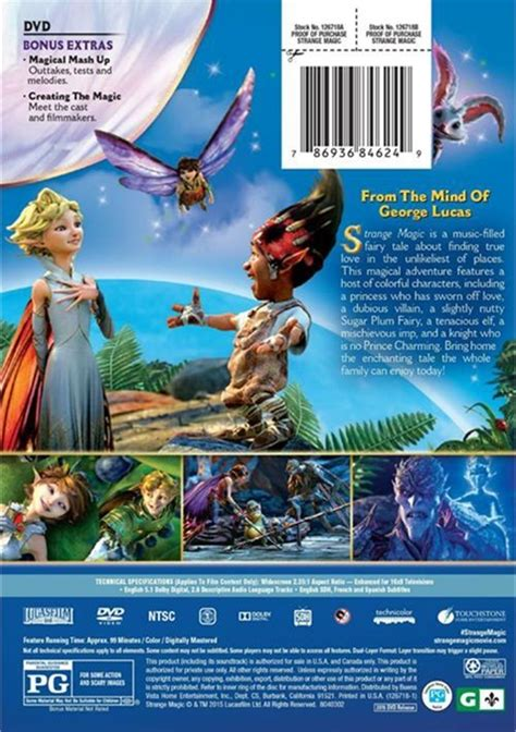 Dvd Strange Magic strange magic dvd 2015 dvd empire