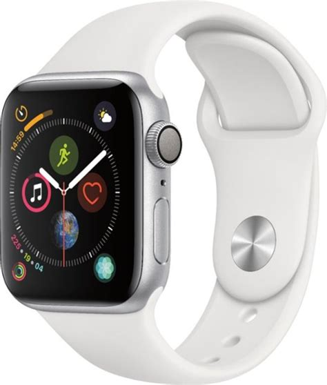 Apple Series 4 Questions by Apple Apple Series 4 Gps 40mm Silver Aluminum With White Sport Band Silver Mu642ll