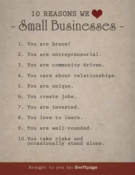 10 Reasons I Like Cataclysm top 10 reasons why we small businesses sbw2013