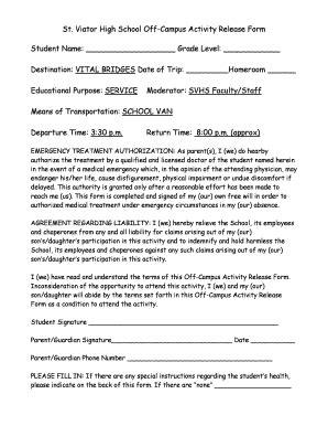 transportation release form template sle transportation release form templates fillable