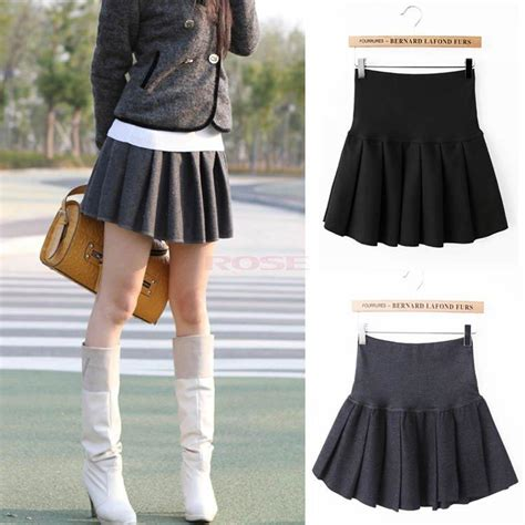 new mini skirt school pleated