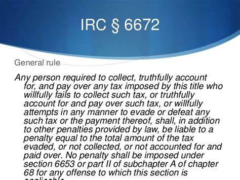 irc section 74 civil and criminal liability for trust taxes