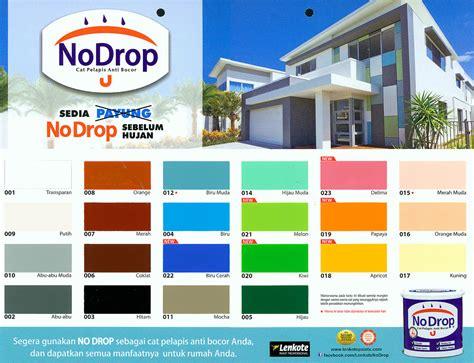 warna cat tembok  drop eksterior