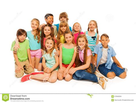 preteen group group portrait of cute preteens stock photo image 57845034