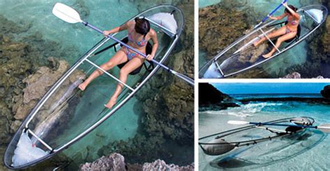 boat accessories denver clever see through kayak and canoe designs neatorama