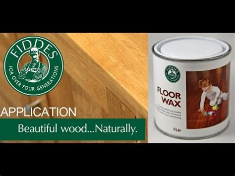 What Is Floor Wax Made Of by Fiddes Liquid Floor Wax Application