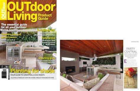 backyard living magazine sapore wood ovens sapore grande is featured in the