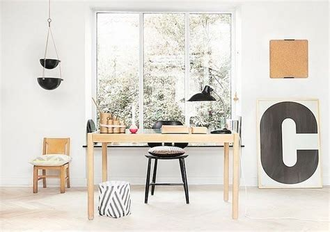 Home Decorating Wall Art by 50 Splendid Scandinavian Home Office And Workspace Designs
