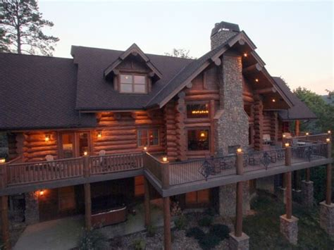 magnificent custom log home home design garden