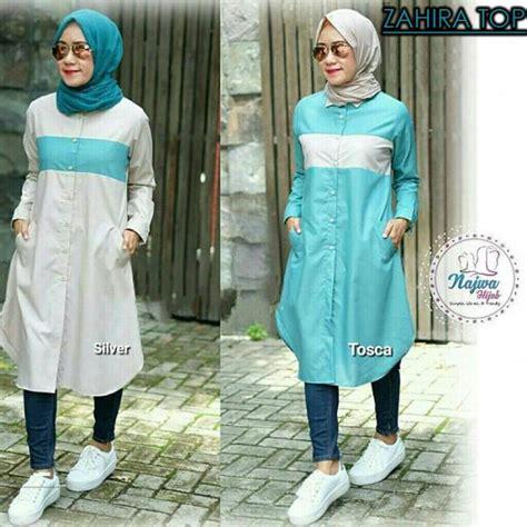 Pakaian Baju Atasan Wanita Cecilia Top Balotelly Busana Muslim baju muslim remaja baju modern murah keren trendy model baju muslim remaja baju