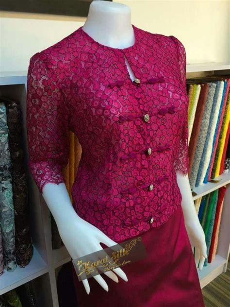 Dress Brokat Flower Imlek Terlaris myanmar dress myanmar lace dresses kebaya brokat and wear