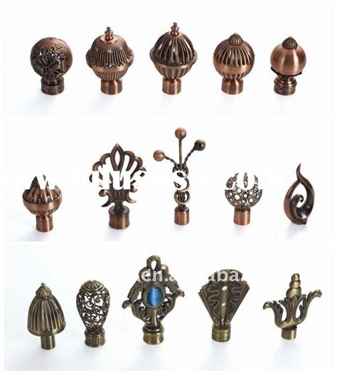metal curtain rods and finials metal finials for curtain rods memsaheb net