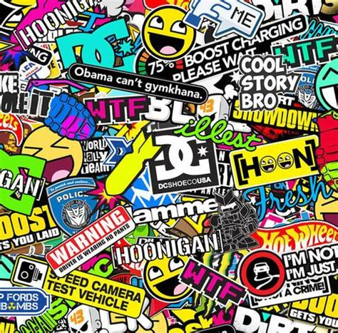 hoonigan sticker bomb stb024 hoonigan stickerbomb 50cm atlantic hydro