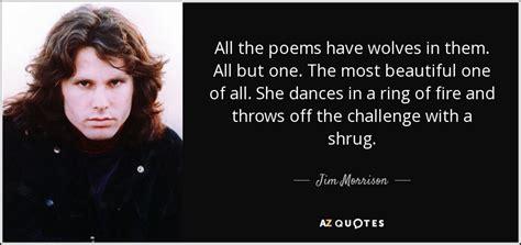 jim morrison quote   poems  wolves