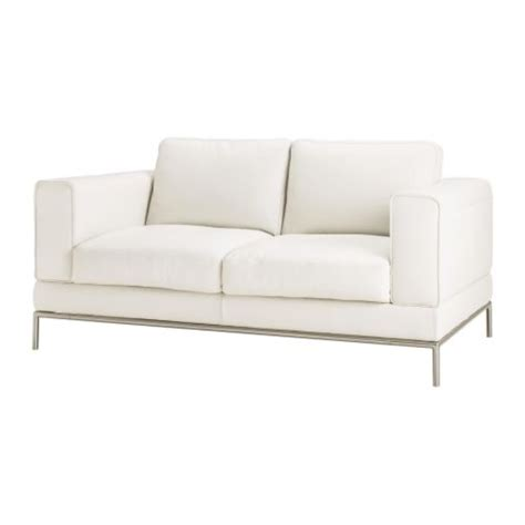 white leather couch ikea arild two seat sofa karakt 228 r bright white ikea